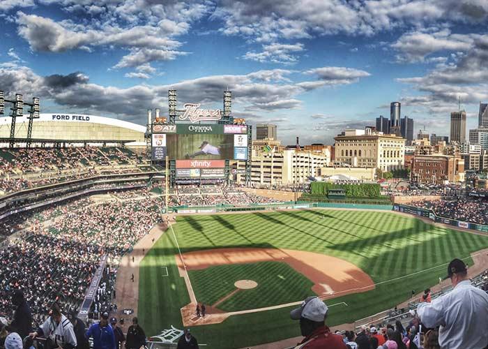 Detroit baseball stadium