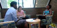 McGregor fellows listen to refugees' stories