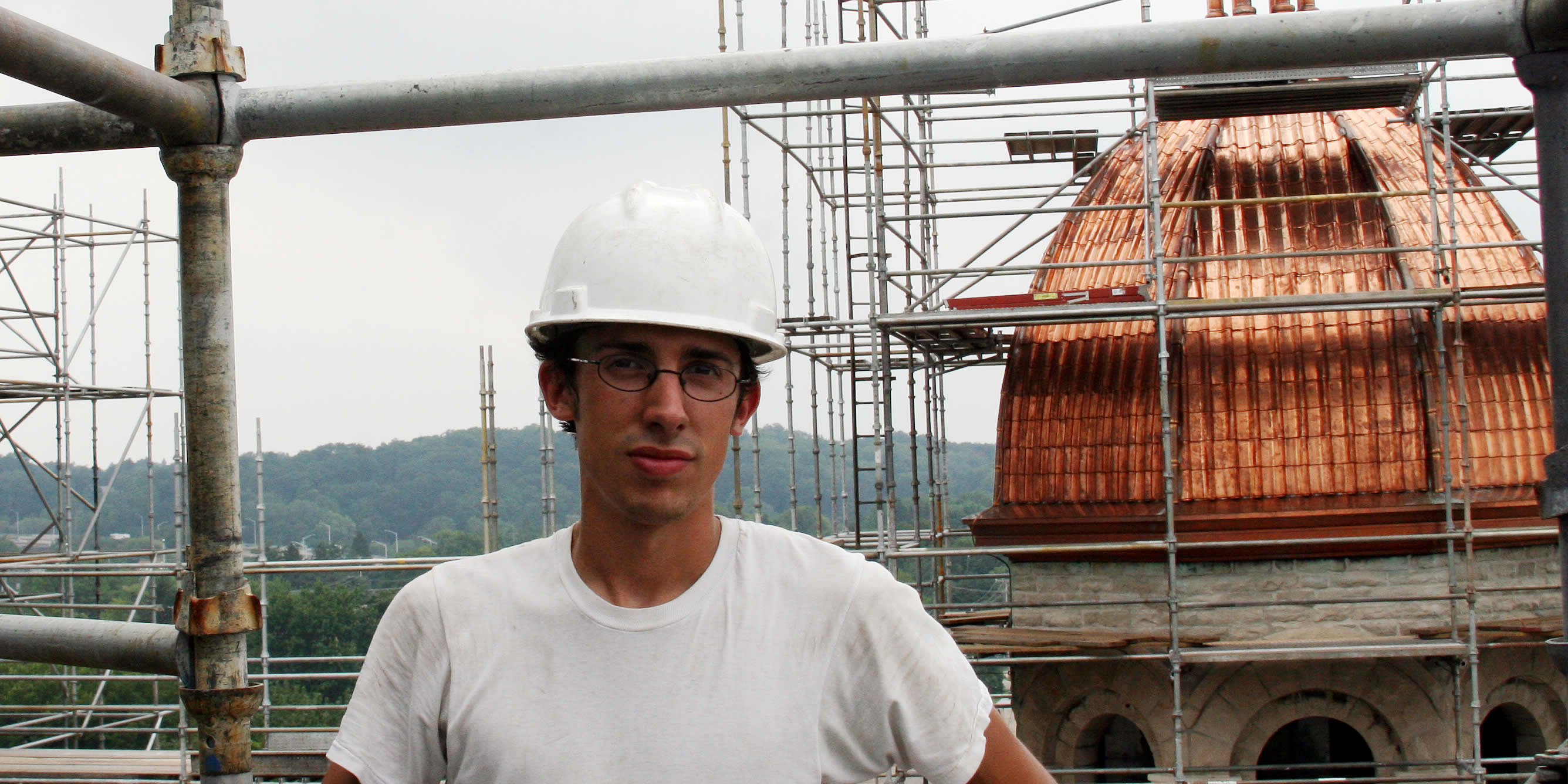 Michael Rodriguez works to restore historical buildings in and around GR.