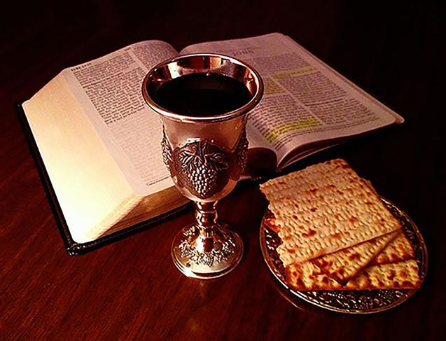 Picture of Bible and Lord's Cup and Bread Photo by John Snyder