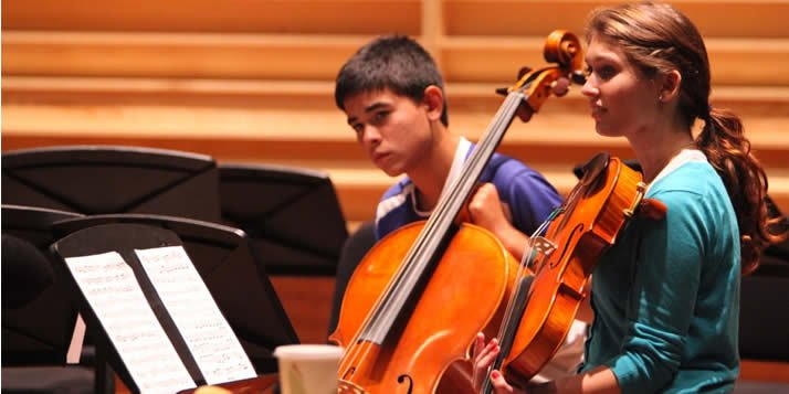 Every year, Calvin hosts six days of rigorous instruction and performance for string performers of all ages.