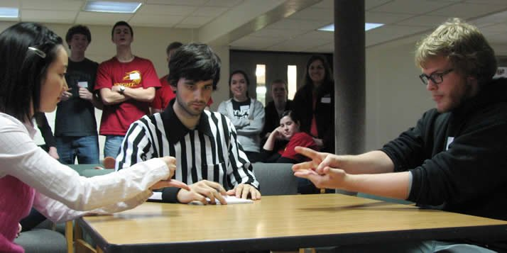 "Referee Roland Eldridge, the ""official official"" of Rock, Paper, Scissors, said the talent level of this year's competition is better than last year's."