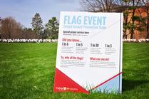 Sexual Assault Awareness Flag Event