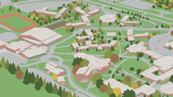 A mock-up of the layout of the Knollcrest campus.