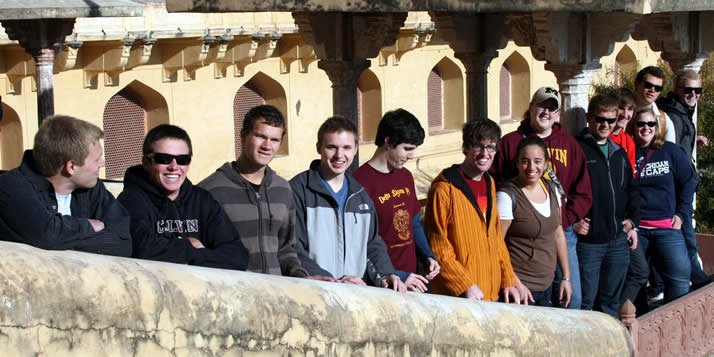 During interim, some Calvin students worked in business internships in Hyderabad.