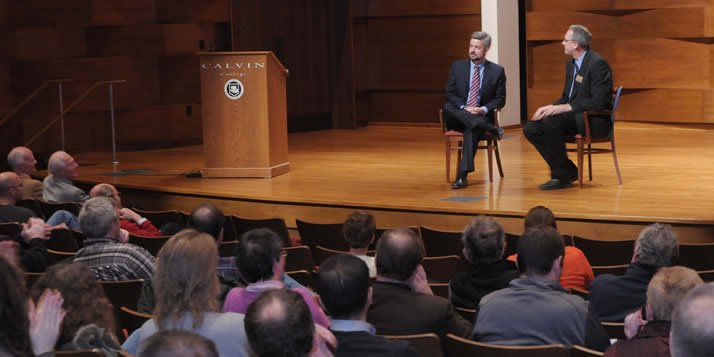 Presidential appointee Michael Le Roy spent a Saturday meeting the Calvin community.