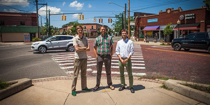 Josh Leo, Noah Kruis and Owen Selles in Eastown