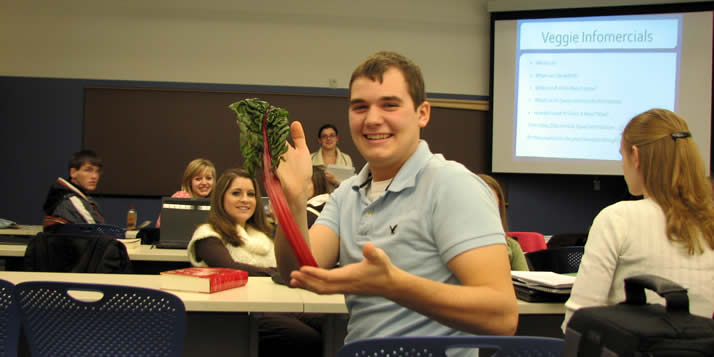 During interim, some students get acquainted with the theology of growing and eating vegetables.