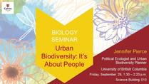 Urban Biodiversity: It's About People