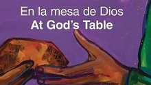 "The cover of ""En la mesa de Dios"""