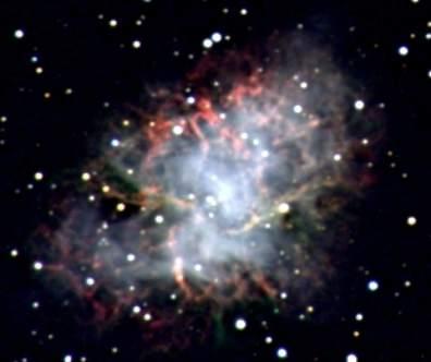 Crab nebula (Photographed by Professor Molnar, 2004)