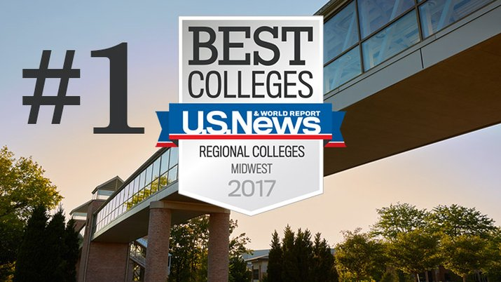 U.S. News ranks Calvin College #1 in the Midwest