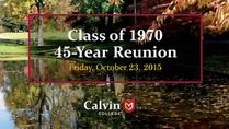 Class of 1970: 45-year reunion strolling dessert reception