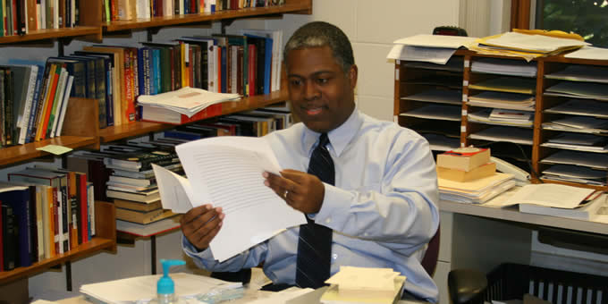 History professor Eric Washington's research concentrates on how African Americans have articulated the idea of being Reformed.