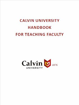 Handbook for Teaching Faculty