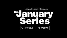 The January Series logo in white text on a black background