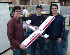 Members of Team Plane!, left to right: Ian Hoffbeck, Tom Kok, Christian Swenson, (absent) Brett Pennings