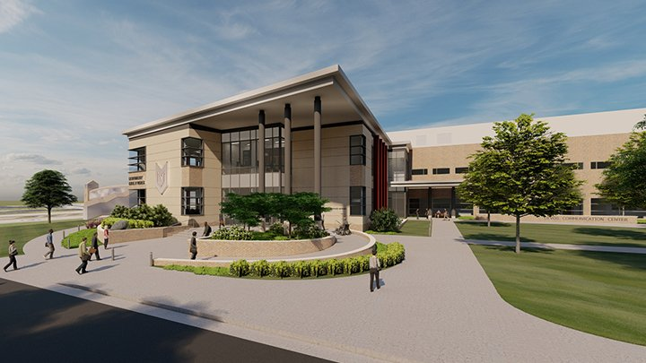 Rendering of the School of Business building at Calvin University