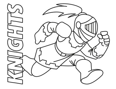 Joust coloring page