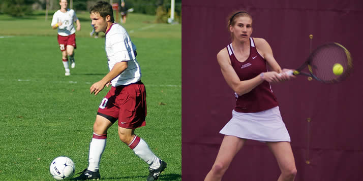Scott Hooker has a been a member of four MIAA championship teams in men's soccer, and Melissa Oosterhouse led a Calvin team that captured its first MIAA title since 1982.