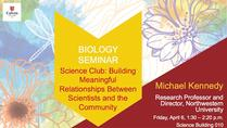 Science Club: Building Meaningful Relationships Between Scientists and Community