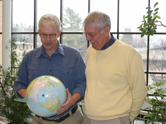 Two Fulbright winners ponder the globe