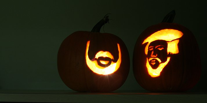 Use our templates for carving the venerable John Calvin pumpkin, the Le Roy beard and the Calvin Knight.