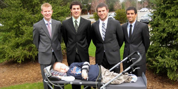 Team Achieving Mobility spent two semesters, an estimated 1,800 hours and at least two all-nighters designing a motorized stroller for a particular customer: Isaac Postma.
