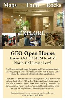 GEO Department Open House