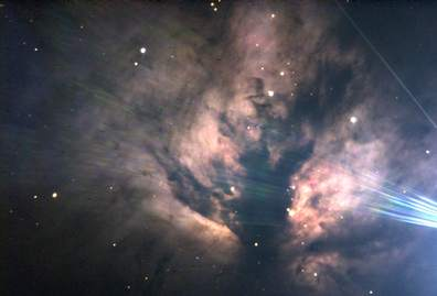 Flame Nebula NGC 2024 (Photographed by Brittany Lally, 2011)