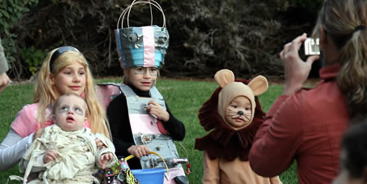 Hundreds of costumed children from the community meandered through the apartment buildings in Knollcrest East on Halloween for the annual Light in the Night celebration.