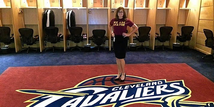 Melissa Darusz is interning with the Cleveland Cavaliers.