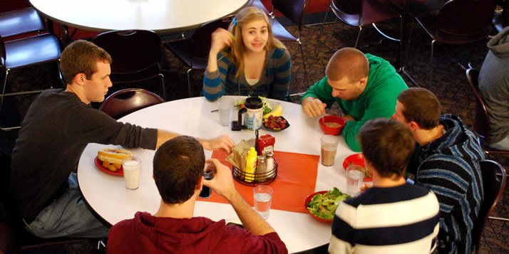 "Calvin's dining services is working to become green and has started with ""Tray-Choice"" Tuesdays, intended to promote savings in food, water, energy consumption and waste."