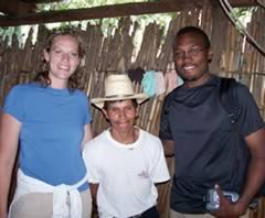 Missy Kuiper Jackson and Derrell Jackson with a Guatemalan coffee grower