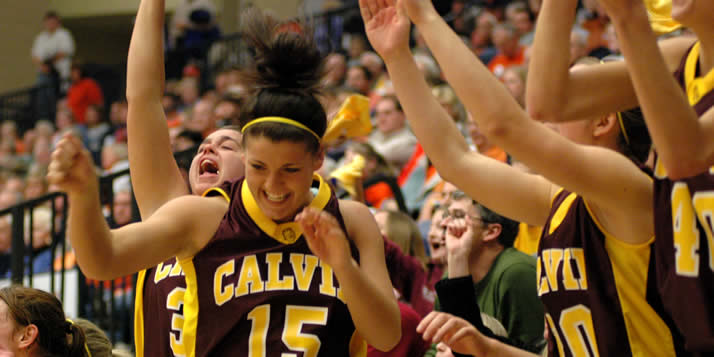 On January 7, 2009, another milestone in Calvin athletics was marked as the men's and women's basketball teams returned to campus for their first games in the new Van Noord Arena.