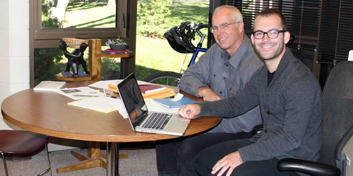 Roland Hoksbergen and senior John Michael LaSalle spent this summer developing the Entravos website.