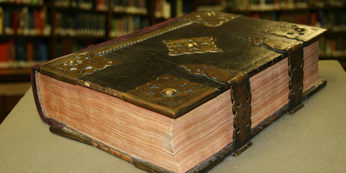 This 1534 Bible printed by Martin Lempereur in what is today Antwerp, Belgium, is the oldest Bible in the Meeter Center's collection.