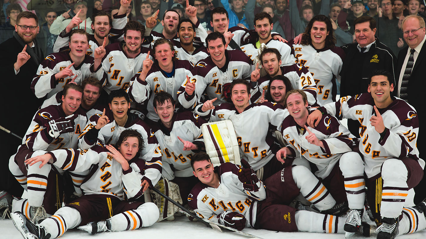 Calvin took the Midwest Collegiate Hockey Conference West Division III title and advanced to the ACHA Division III  National Tournament, where the Knights reached the semifinals.