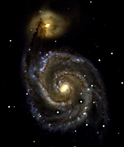 Whirlpool Galaxy M51 (Photographed by Phil Ammar, 2004)