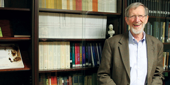 Alvin Plantinga was named a 2012 winner of a prize that honors the systematic study of philosophy.