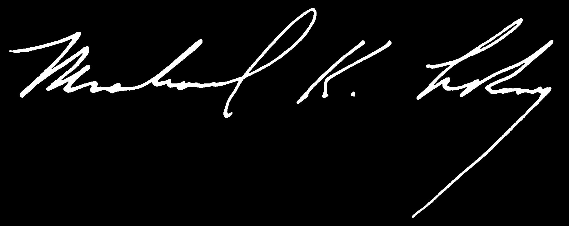 President Le Roy's signature