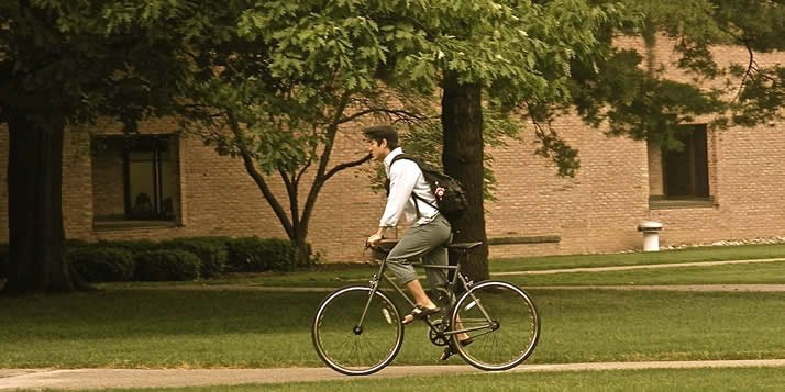 Forty more students signed up for the semester loan than senate had bikes for.
