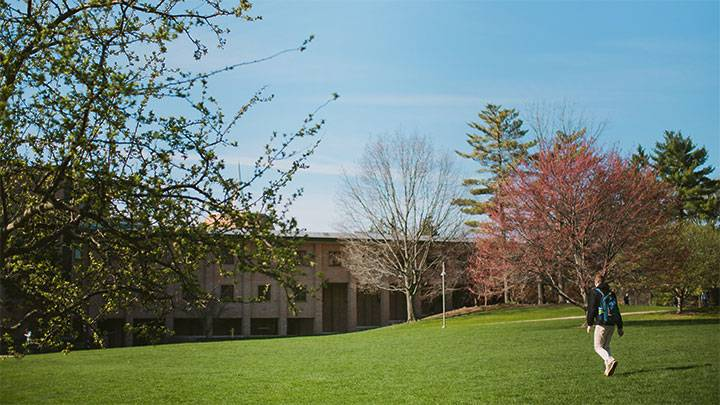 Hiemenga Hall in the springtime.