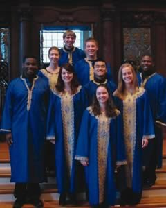 Calvin Gospel Choir members in Harvard's Memorial Church