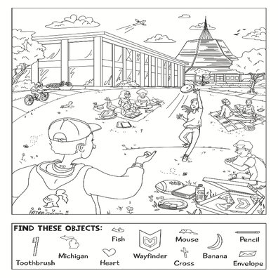 hidden objects coloring page