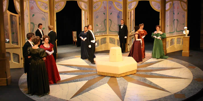 Dress rehearsal for the cast of