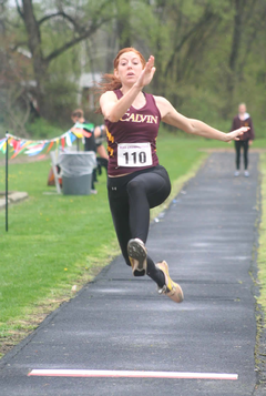 Julie Bratt, Calvin's star triple-jumper