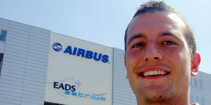 Steven Brink spent a summer working in Bremen at Airbus.