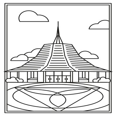 Chapel coloring page