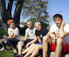 Calvin students on a service-learning trip